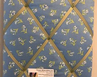 Bluebell print Fabric Memo Board