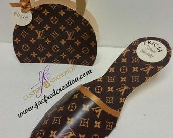Shoe and Purse card set. Designer Inspired