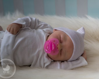 Opened Mouth Reborn baby girl or boy | OOAK Hand Painted Doll | made to order