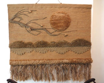 Vintage Woven Textile Wallhanging