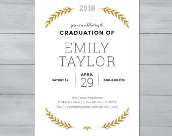 Graduation Invite     Graduation Party Invitation     Grad Invite