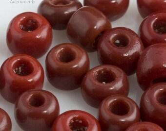 20% OFF Vintage Venetian Seed Bead Opaque Brick Red  5/0  20 gram bag. b17-218(e)