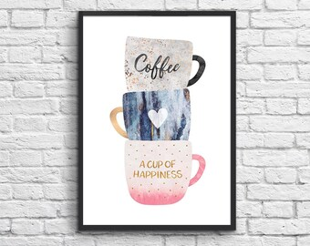 Art-Poster 50 x 70 cm - A cup of happiness