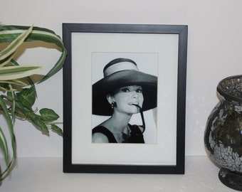 Audrey Hepburn Breakfast At Tiffany's 5x7 photo. Framed and Matted display measures a final size of 8x10.  #3