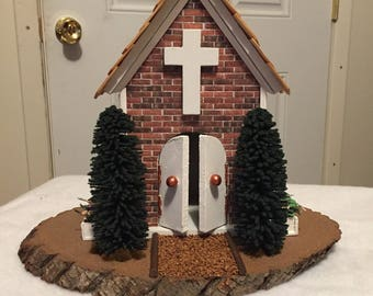 Country church diorama