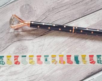 Christmas Stocking Washi// Christmas Washi Tape// Christmas Craft Tape