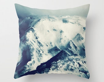 Mountain pillow, mountain cushion, blue pillow, blue cushion, throw pillow, scatter cushion, photography pillow, pillow cover, cushion cover
