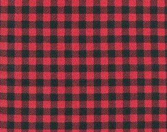 Burly Beavers FLANNEL Yardage - SKU: 15995-94 Cardinal - By Andie Hanna for Robert Kaufman Fabrics