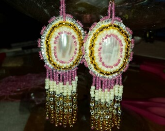Native American hand made, special order, you can order something similar to these in any color combination.