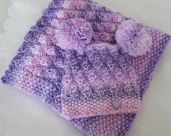 Baby knitting pattern chunky baby pram blanket hat mittens baby knitting pattern chunky pram blanket hat easy knit pdf knitting pattern dt1010fo