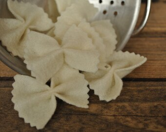 Felt Bow-Tie Pasta (Farfalle) - Felt Food for Pretend Play