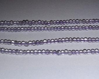 SALE! Amethyst beads 2mm round beads round stone beads stone beads purple beads purple stone beads
