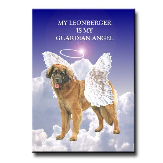 Leonberger Guardian Angel Fridge Magnet Pet Loss