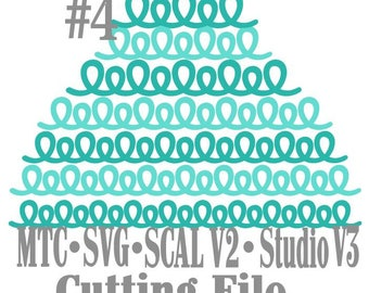 SVG Border Loopy bundle #4 Set of 7 Scrapbooking  MTC Silhouette Cricut SCAL Cutting File