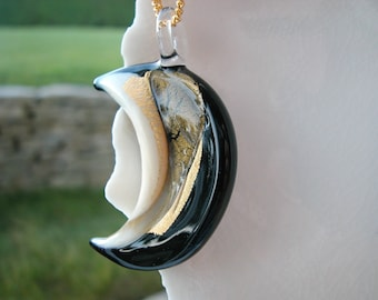 Murano Glass Half Moon Necklace