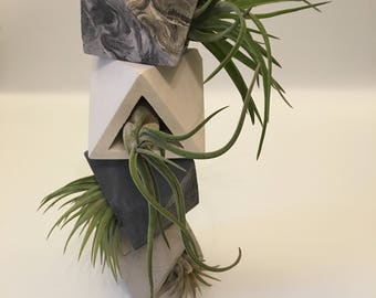 Concrete geometric planter-concrete planter-wedding favours-air plants for sale-airplant holder-air plant holder-concrete airplant holder