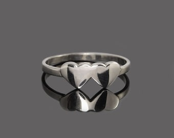 Heart ring, Love ring, Promise ring, Tiny ring, Dainty ring, Small ring, Petite ring, Silver promise ring, Silver heart ring