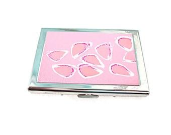 Wallet, Metal Card Wallet, Pink Metal Wallet, Pink Metal Card Case
