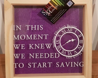 Personalised Saving Frame - Ideal for Saving for weddings, new home, family, holidays and pocket money for kids