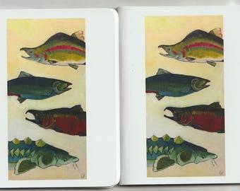 Salmon and Sturgeon Lot Of Two Memo Books