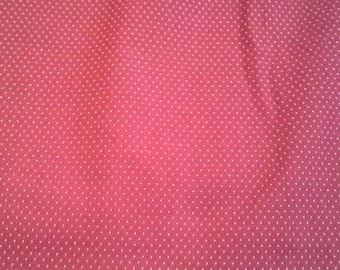 Dark Red Micro Dot Quilting Cotton Fabric 1 1/4 Yards X0745