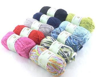 Thick Thin Bamboo Fiber Wool Yarn - Bulky - 2 x 100g/Skein