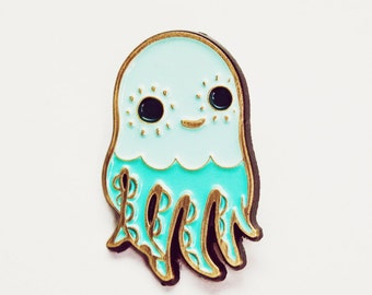 Enamel Pin - Octopus Pin - hat pins - Squid Lapel Pin - octopus Pins Kawaii Octopus Brooch, brooches octopus jewelry