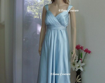 SAMPLE SALE. Silk Charmeuse Wedding Dress. Tea Length Bridal Gown.