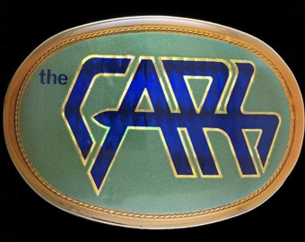Rare Vintage NOS 1970s 1978 The Cars Rock Roll Music Band Album Promo Tour Pacifica Belt Buckle Unused
