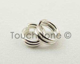 4mm Sterling Silver Split Rings