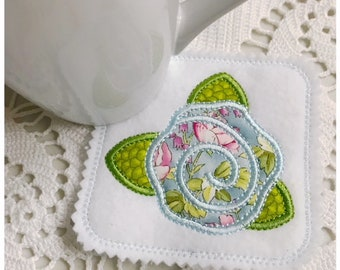 Simple Flower Coaster Machine Embroidery Design
