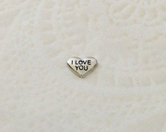 I love you floating charm for memory locket