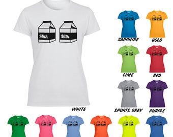 Milk Carton Breast Feeding T-Shirt, Eat Local Shirt, Breast Feeding Shirt, Milk Carton Shirt, Milk Cartons, Breastfeeding, Funny Shirt