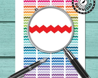 Zig Zag Chevron Planner Stickers Printable Planner Stickers Download Planner Stickers (ni52)