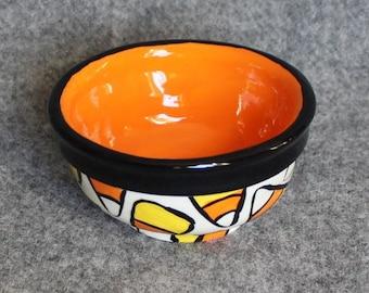 Halloween Mini Bowls, Teacher gift, Polka Dots, Stripes, Food prep bowls, dip bowls, jewelry dish, wedding, Christmas, bright fun colors