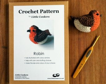 Crochet Robin Pattern / Gift for Crocheter / Crochet Pattern Gift / Printed Paper Pattern / Craft Gift / Crochet Gift / Small Gift Spring