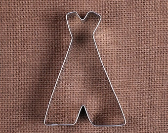 Teepee Cookie Cutter, Tent Cookie Cutter, Camping Cookie Cutters, Metal Cookie Cutters, Sugar Cookie Cutters, Glamping Cookie Cutter
