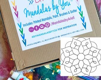 Mandala DiY KiT. Mandala Painting. Painting Kit, Yoga Art, Meditation Art