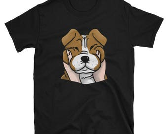 Chubby Cheeks English Bulldog Shirt, Funny Bulldog Dog Gift