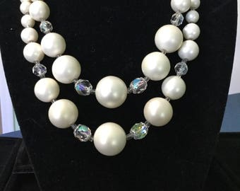 Vintage Double Strand Faux Pearls