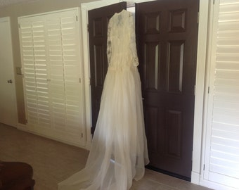Vintage wedding dress, 50s, excellent condition