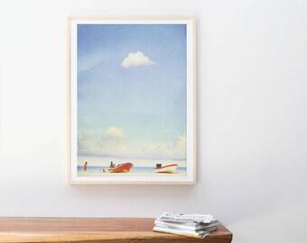 Large Beach Photography // Ocean Seaside Photography // Large Scale Prints // Large Wall Art // Blue Turquoise Art Print // Playa del Carmen