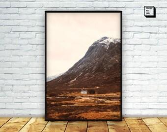mountain cabin print, mountain hut photography, mountain cabin wall art, cabin wall art, cabin printable, wall decor, art