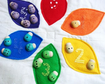 Lady Bug Learning Playset - A Montessori and Waldorf Inspired Counting and Math Learning Game