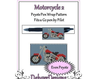 Peyote Beading Pattern (Pen Wrap/Cover)-Motorcycle 2