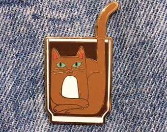 COFFEE CATS Iced Coffee Cat Enamel Pin