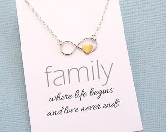 Gift for Mom | Infinity Necklace, Mom Necklace, Mothers Day Gift, Family Gift, Gifts for Mom, Mothers Necklace, Grandma Gift | FA02