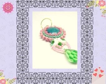 Flower earrings swarovski crystal.
