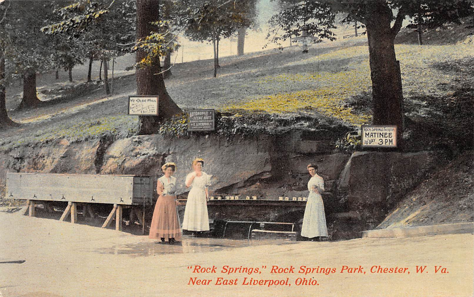 Rock Springs Park Chester West Virginia East Liverpool Ohio 1910c postcard