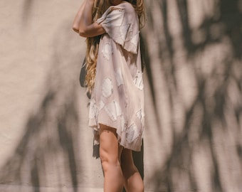 Diamond Tunic Sand Raw silk Bohemian Beach Style Gypsy Breezy Dress Patchwork Ethical and Sustainable